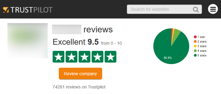 TrustPilot Good Reviews